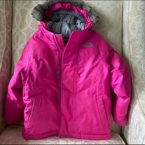 The North face girls down jacket size 4T